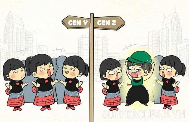 sự khác nhau giữa các thế hệ