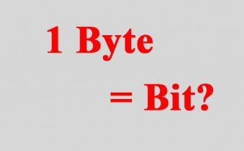 1 byte bằng bao nhiêu bit