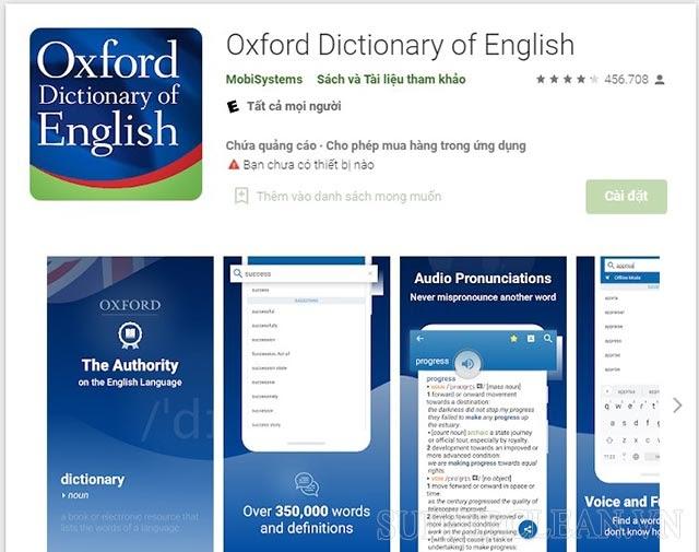 Oxford Dictionary app