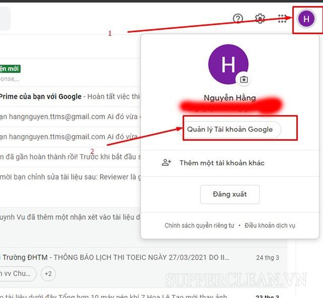 thay đổi tên địa chỉ gmail