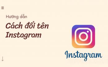 cách đổi tên instagram