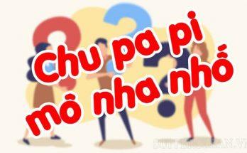 chu pa pi nha nhố nghĩa là gì