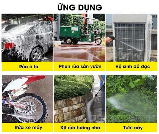 ứng dụng của máy rửa xe