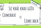 comeback là gì